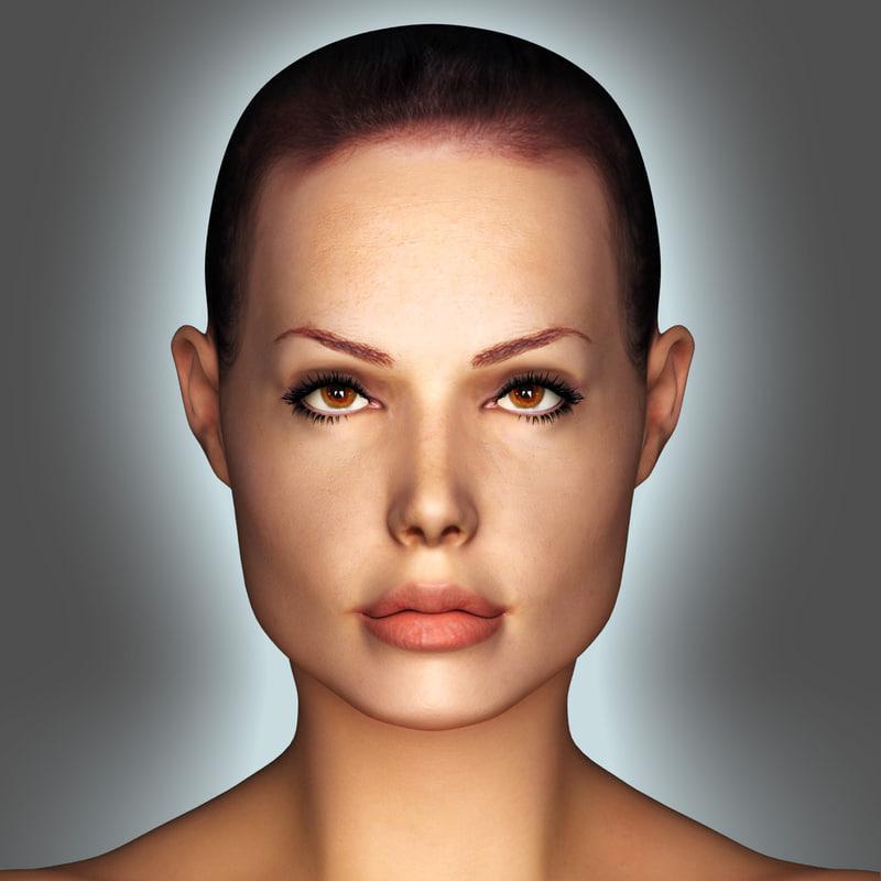 3d model realistic woman