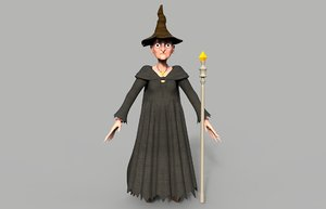 3d witch character model