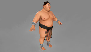3d sumo wrestler