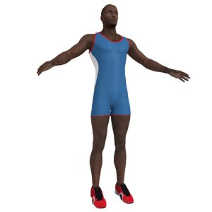 athlete man 3d max