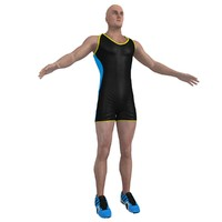 athlete man 3d max