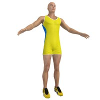 athlete man 3d model