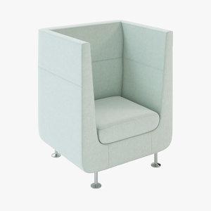 3d model hush modular seating