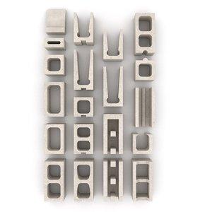 masonry block 3d 3ds