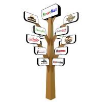 3d tree signboard model
