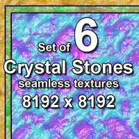 Crystal Stones 6x Seamless Textures