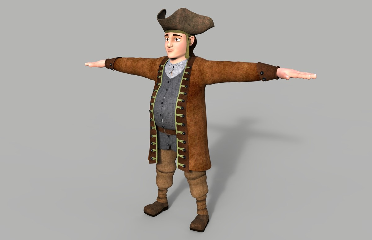 3ds max pirate character