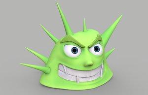 spikes cartoon character max