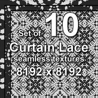Curtain Lace Seamless 10x Textures, set #1