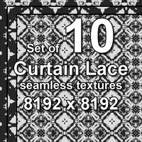 Curtain Lace 10x Seamless Textures, set #2