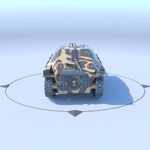 3d jagdpanzer 38 hetzer german tank