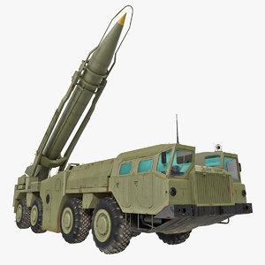 3d model scud missile launcher maz-543