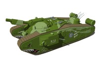 world war style tank 3d model