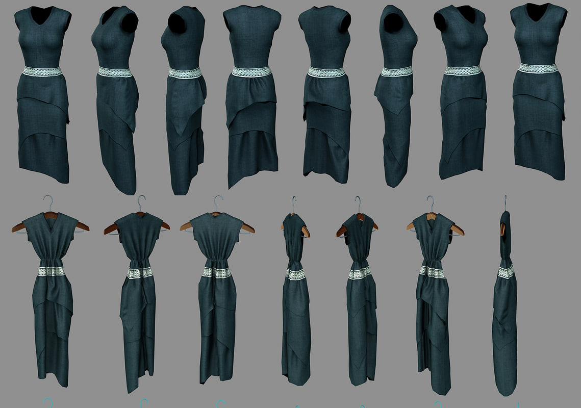 3d dress woman coat