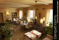3d max banquet classic interior