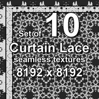 Curtain Lace 10x Seamless Textures, set #3