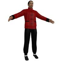 kung fu martial artist 3d max