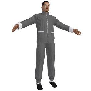 kung fu martial artist 3d model
