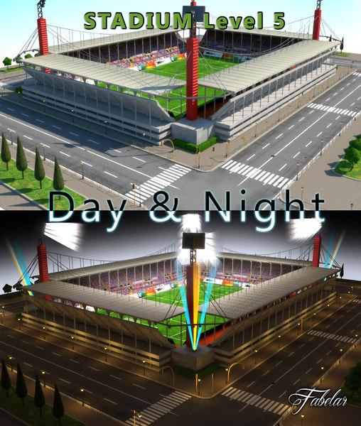 3d model stadium level 6