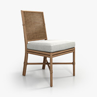 McGUIRE Square Back Caned Side Chair
