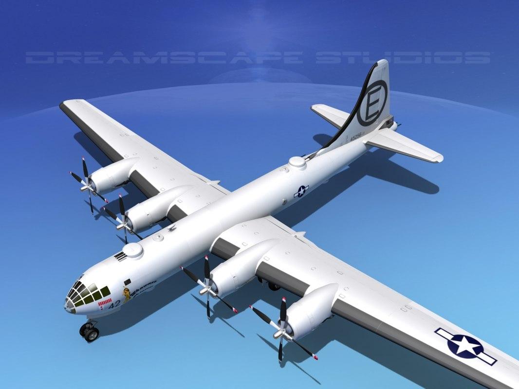 superfortress b-29 bomber dxf