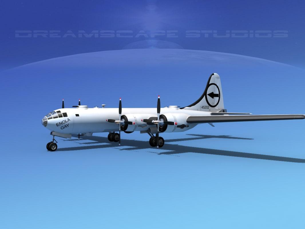 superfortress b-29 bomber 3d max
