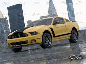3d model mustang boss 2013 car