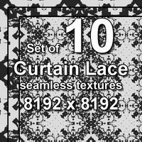 Curtain Lace 10x Seamless Textures, set #5
