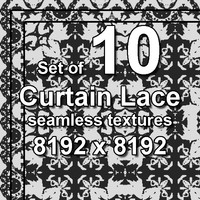 Curtain Lace 10x Seamless Textures, set #4