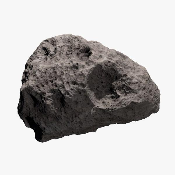 c4d asteroid meteoroid rock
