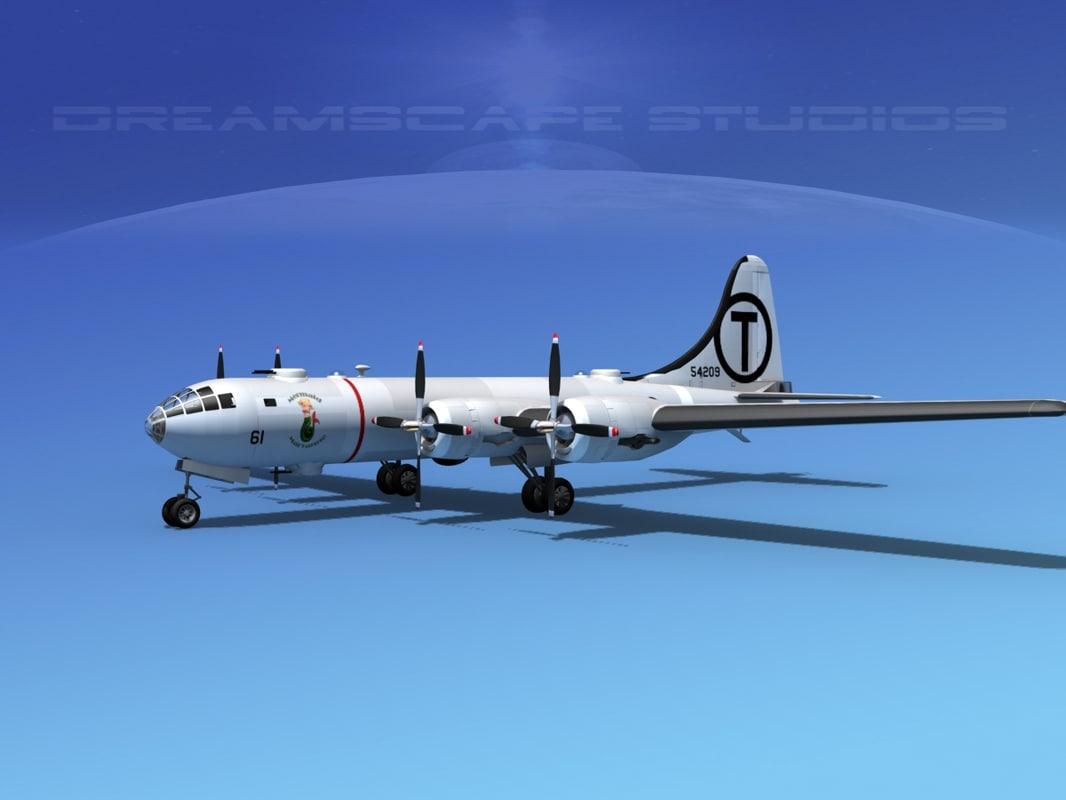 3d model superfortress b-29 bomber