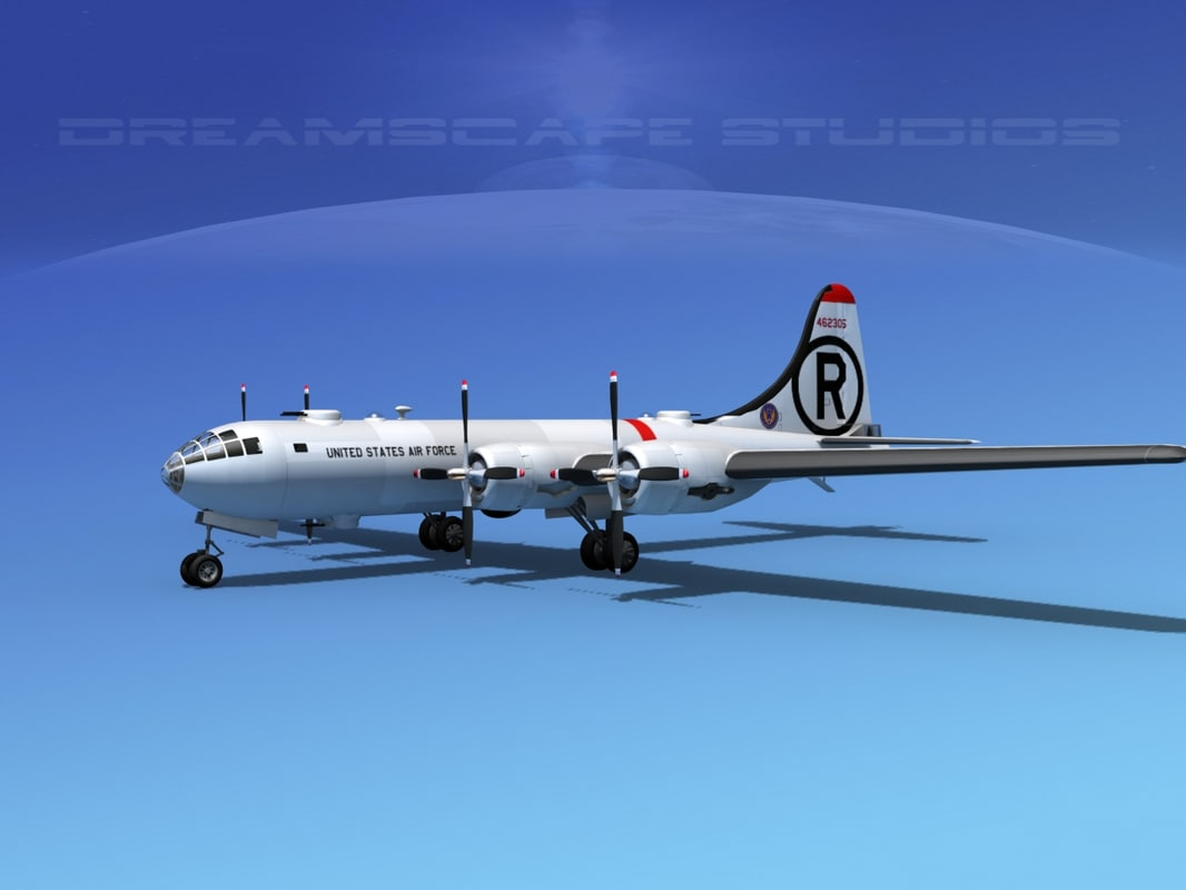 superfortress b-29 bomber 3d model