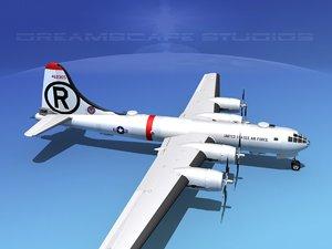 3d superfortress b-29 bomber usaf model