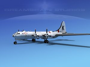 superfortress b-29 bomber obj