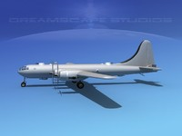 superfortress base modeled b-29 3d model