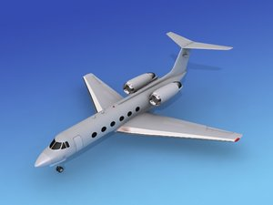 3d model of gulfstream executive jets