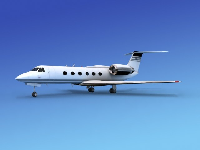 gulfstream executive jets 3d model