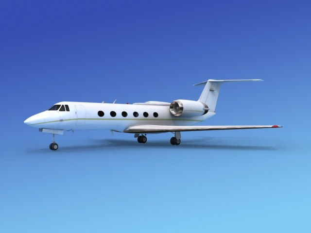 3d model gulfstream executive jets