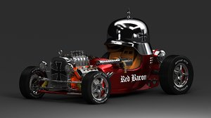 3d red baron hot rod