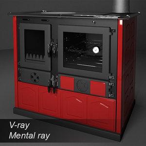 3d wood stove la nordica model
