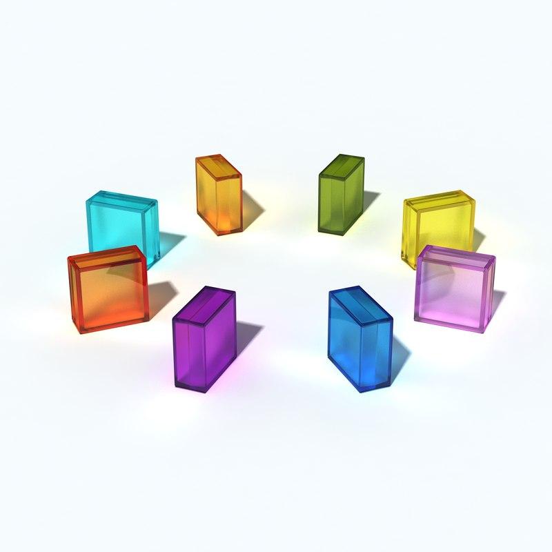 3d glass blocks