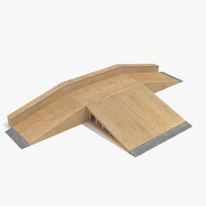 3d model skate ramp fun box