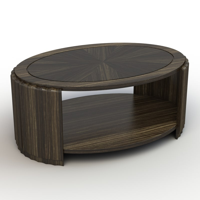 fluted coffee table 3d model