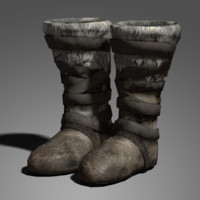 medieval boots 3d model