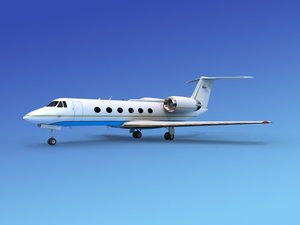 gulfstream executive jets 3d max