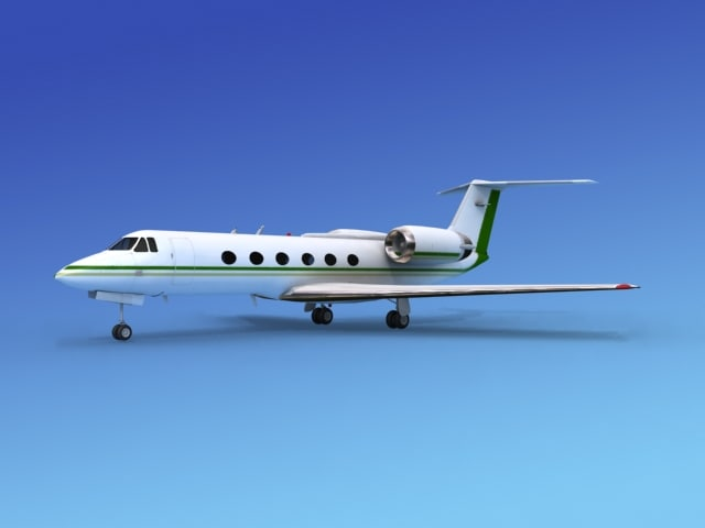 3d gulfstream executive jets model