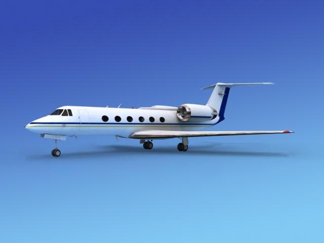 3d gulfstream executive jets