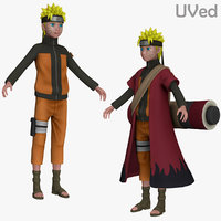 3d naruto shippuden sage uved model