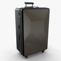 3d modern luggage suitcase bag