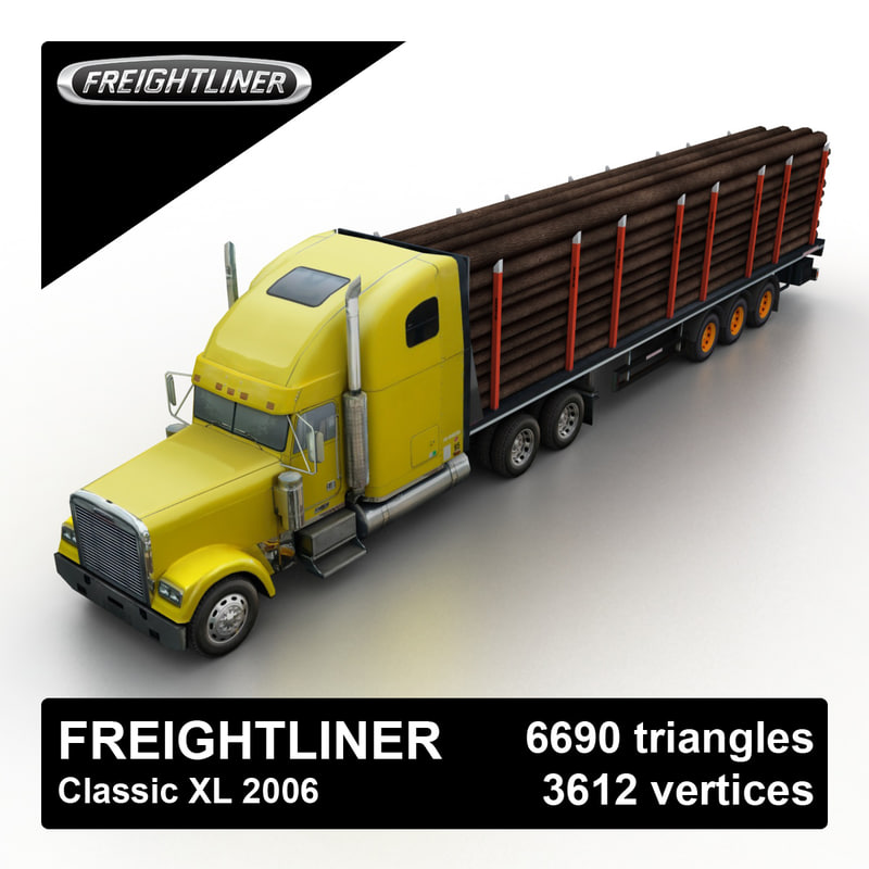 2006 freightliner classic timber 3d 3ds